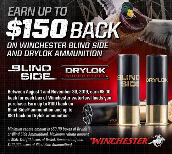 2019 WINCHESTER BLIND SIDE REBATE