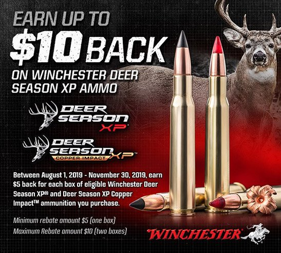 2019 WINCHESTER DEER SEASON XP REBATE